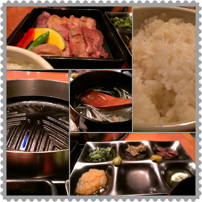 牛タン焼き肉定食